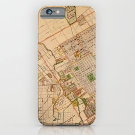 Map Of San Jose 1886 iPhone Case