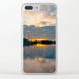 The Docks at Dawn Clear iPhone Case