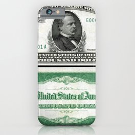 A Series 1928 Grover Cleveland $1,000 Federal Reserve Bank Note iPhone Case