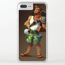 Magnus - Summer Look Clear iPhone Case