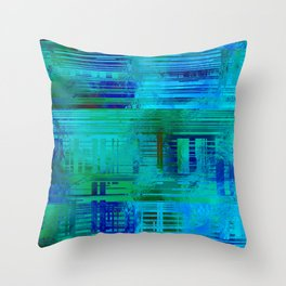 SchematicPrismatic 05 Throw Pillow