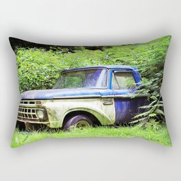 Blue & White Ford Chevy Classic Rectangular Pillow