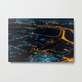 Dubaï, Just The Night Metal Print