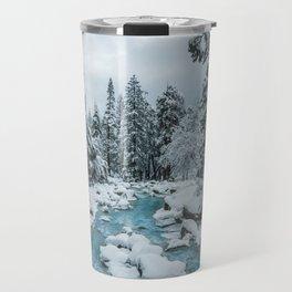 Blue Winter in Yosemite Travel Mug
