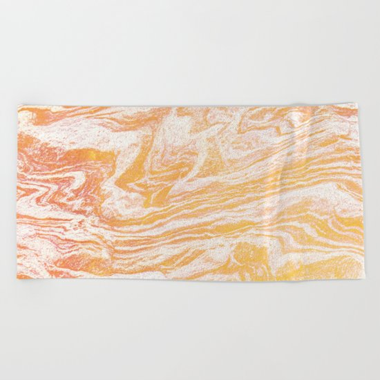 Golden Vibes #society6 #decor #buyart Beach Towel