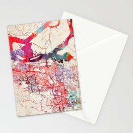 Oakley map California CA Stationery Cards