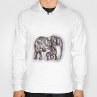 mom Hoodies featuring Mom Eephant by Harsh Malik
