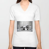 origami V-neck T-shirts featuring Origami  by The Traveling Catburys