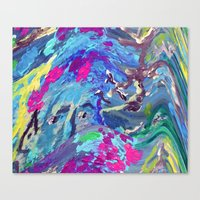 fairy Canvas Prints featuring Fairy by Lizzshop