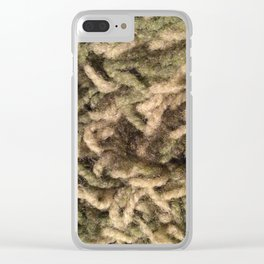 Green shag Clear iPhone Case