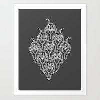 Grey Dachshunds Art Print