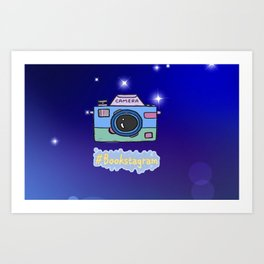Camera #Bookstagram Art Print
