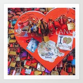 Locked in Love Art Print