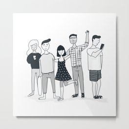 Hipster group Metal Print