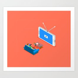 TV THESE DAYS Art Print