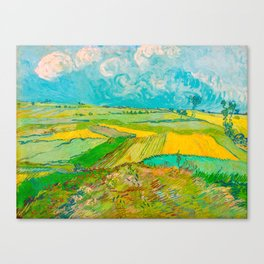Wheat Fields after the Rain (The Plain of Auvers), July 1890 Oil Painting by Vincent van Gogh Canvas Print
