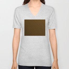 Chocolate Brown Moroccan Geometric Pattern Unisex V-Neck