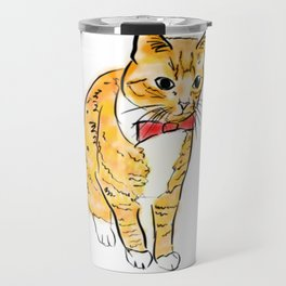 CAT WITH A BOW TIE Travel Mug