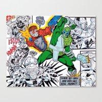 starlord Canvas Prints featuring Starlord Vs. Evil by Hugo Maldonado