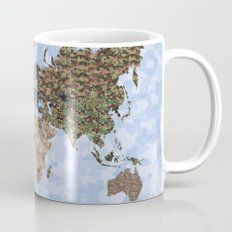 CAMO WORLD ATLAS MAP (blue) Mug