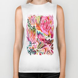 Sunk into a Candy Cave Biker Tank