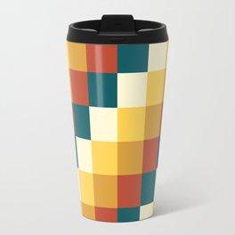 My Honey Pot - Pixel Pattern in yellow tint colors Travel Mug