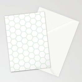 Honeycomb Mint Green #192 Stationery Cards