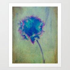 Just Blue Art Print