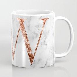 Monogram rose gold marble W Coffee Mug