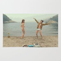moonrise kingdom Area & Throw Rugs featuring Moonrise Kingdom Dance by Kevin Patrick Reilly II