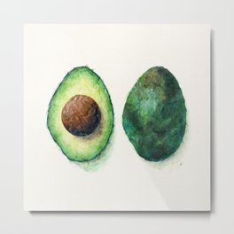 Avocado Split Metal Print