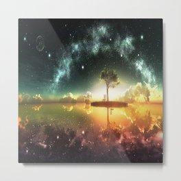 Space Tree Metal Print