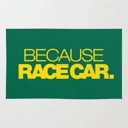 BECAUSE RACE CAR v5 HQvector Rug