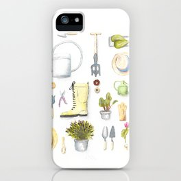 Gardening Tools iPhone Case