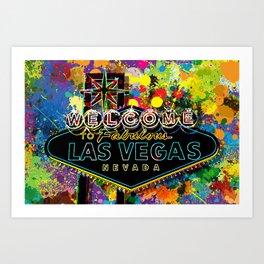 Welcome to Las Vegas Art Print