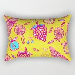 Tropicana on Yellow Rectangular Pillow