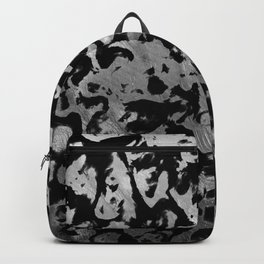 Abstract Magic - Silver Black Backpack