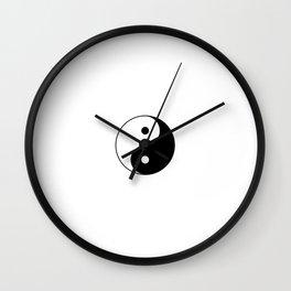 Yin and Yang 10 - Tao,Zen,Taoism,Dao,Harmony,religion,buddhism,buddhist,taijitu,taiji,taoist,china Wall Clock