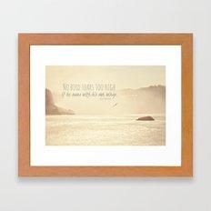 No Bird Soars Too High Framed Art Print