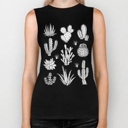 Cactus Pattern on Teal Biker Tank