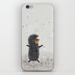 Hedgehog in the Fog fly like butterflies iPhone Skin