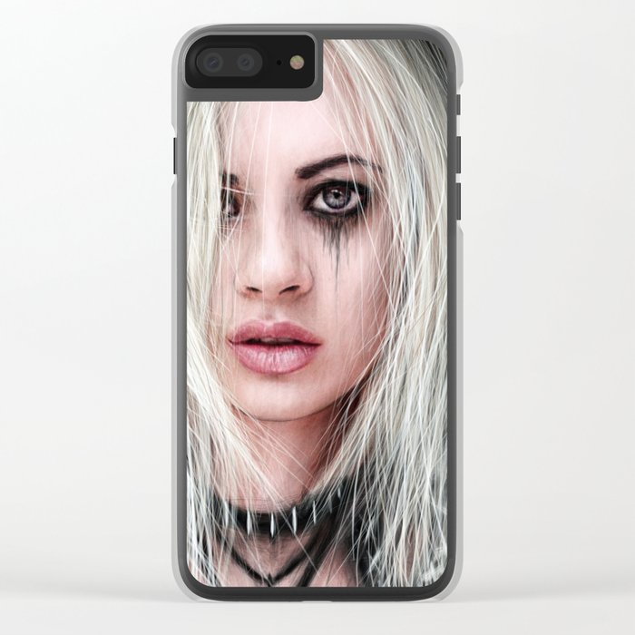 Sword In the Dark: A Gothic Warrior Clear iPhone Case