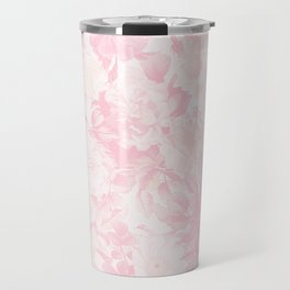 Vintage blush pink baby yellow roses flowers Travel Mug