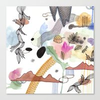 new year Canvas Prints featuring New Year by Brooke Weeber
