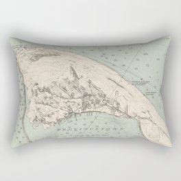 Vintage Map of Provincetown MA (1892) Rectangular Pillow