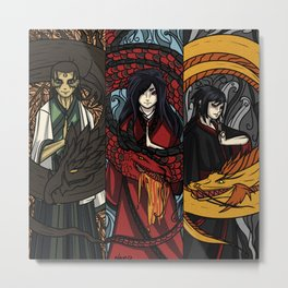 Friends and sister Metal Print