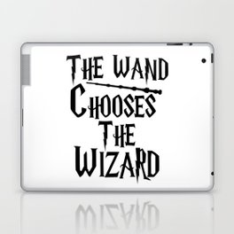 The wand chooses the wizard Laptop & iPad Skin