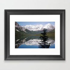 Mountain Reflection with Lone Pine Framed Art Print