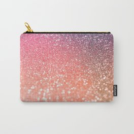 Rose Gold Peach Glitter Blush Carry-All Pouch