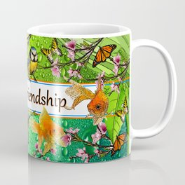 Birdy & Fishy spring green Coffee Mug